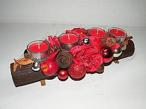 Svietidlá a sviečky - Adventný svietnik_ Červené Vianoce ... - 4769842_