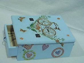 Krabičky - Šperkovnica so zrkadlom - 4767546_