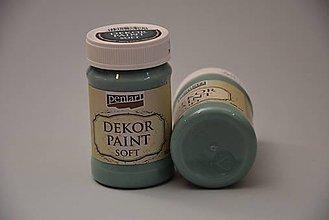 Farby-laky - Dekor soft paint, tyrkysová zelená - 4769238_