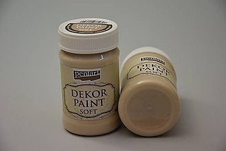 Farby-laky - Dekor soft paint, capuccino - 4769266_