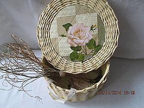 Košíky - White rose II - 4766035_