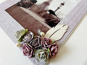 Rámiky - rámik s ružami - 4764652_