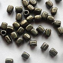 Korálky - Kov.kváder 3x2mm-20ks (st.mosadz) - 4766729_