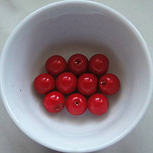 Korálky - Vosk.perly 8mm-10ks (červená) - 4769738_