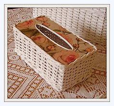 Košíky - Krabička na kozmetické vreckovky - 4767200_
