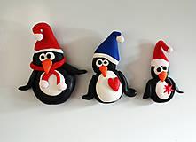 Vianočné magnetky tučniaky