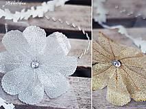 Ozdoby do vlasov - čelenka s velkým třpytivým květem - 4767238_