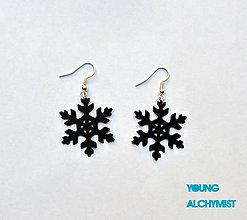 Náušnice - Snowflakes - 4766493_