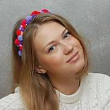 Ozdoby do vlasov - Bambulky Pink ... čelenka - 4771198_