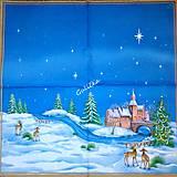 Papier - Servítka vianočná krajinka - 4775475_
