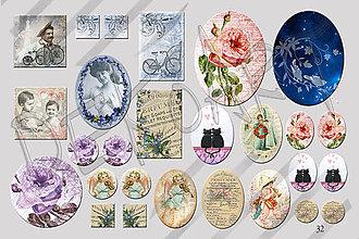 Materiál ručne robený - Motívy na šperky č.32- akcia 4+1 zdarma na všetky motívy - 4772859_