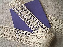 Galantéria - bavlnená paličkovaná krajka - 4771956_