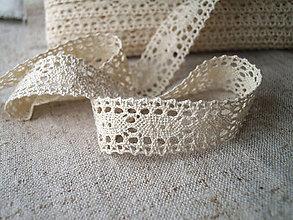 Galantéria - bavlnená paličkovaná krajka - 4771955_