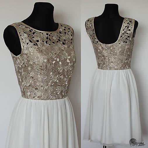 Spoločenské šaty so zlatým vrškom na želanie   Dyona - SAShE.sk ... bdb0f3063cc