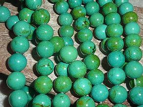 Minerály - Tyrkys zelený 10mm - 4775652_