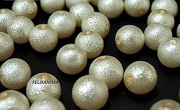 Korálky - Voskované perly Ø 12mm vrúbkované - 4775612_