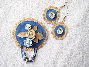 Sady šperkov - Set koženo-polymérový, romantický - 4771002_