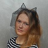 Ozdoby do vlasov - Catwoman in Paris ... čelenka s závojem Sleva - 4779652_