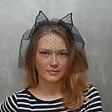 Ozdoby do vlasov - Catwoman in Paris ... čelenka s závojem Sleva - 4779653_