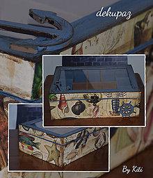 Krabičky - Krabica dvojúrovňová s priečinkami - 4780247_