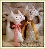 Dekorácie - Mačka Mi a Ci - 4778049_