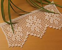 Úžitkový textil - čipka s vločkami - 4779437_
