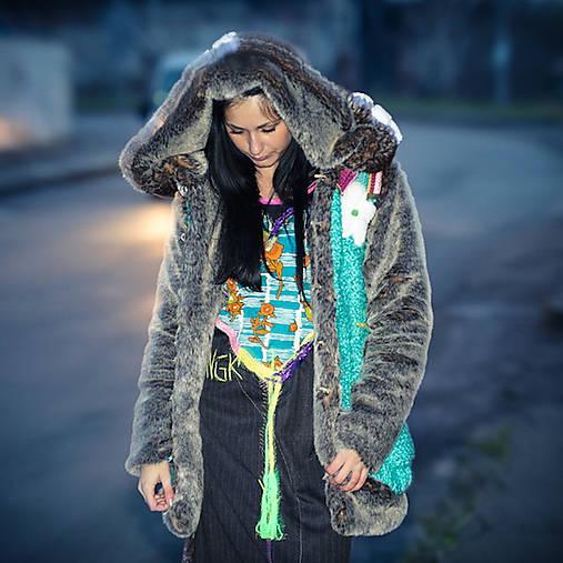Origo kožuštek štrikovanec X1   IngK - SAShE.sk - Handmade Kabáty 0765a010656