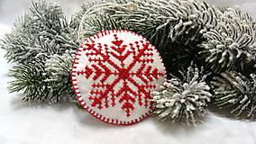 Dekorácie - Vianočná vločka - 4782926_