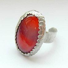 Prstene - Karneolový prstienok - 4785533_