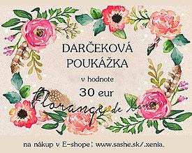 Darčekové poukážky - Darčeková poukážka v hodnote 30 eur - 4782878_