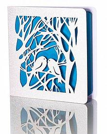 Papiernictvo - V perí odetí, schovaní pre zimou - Vianočné pohľadnice - 4782012_