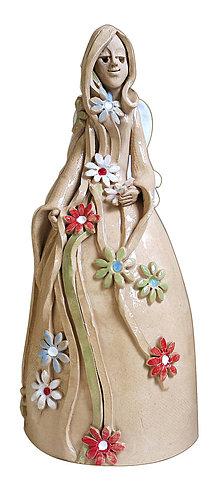 Bábiky - keramický zvonec - anjel  - 4781176_