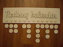 Polotovary - Rodinný kalendár 2 - tabuľka - 4782492_