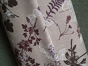 Textil - Dekoračná látka - motýliky a bylinky - 4782333_