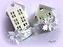 Svietidlá a sviečky - Shabby Chic vianočný svietnik... II. - 4784374_