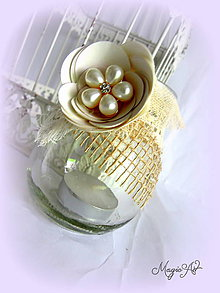 Svietidlá a sviečky - Shabby Chic lampášik I. - 4785020_