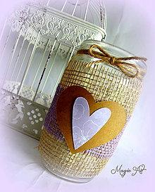Svietidlá a sviečky - Vintage lilla lampášik II. - 4785238_