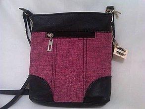 Kabelky - Čierno-ružová crossbody kabelka - 4782708  7141ba21e8f