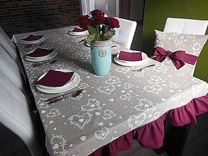 Úžitkový textil - Ľanový obrus Christmas Dream - 4781648_