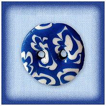 Galantéria - Modrý gombík NA ZÁKAZKU - 4783728_