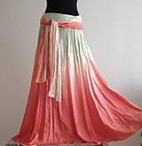 Sukne - Když lososi táhnou - dlouhá hedvábná sukně - 4781695_