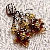 Náušnice - Korálkové náušnice Primavera I - 4790065_