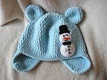- Plyšová- modrá so snehuliačikom :) - 4787830_