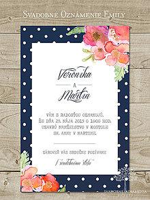 Papiernictvo - Svadobné oznámenie Emily - 4786480_