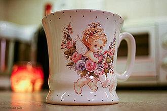 Nádoby - Šálka anjelik srdiečko 230ml - 4788588_