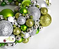 Dekorácie - Adventný veniec z vianočných gulí - 4787967_