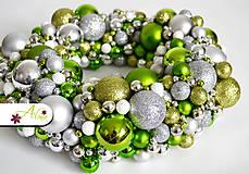 Dekorácie - Adventný veniec z vianočných gulí - 4787997_