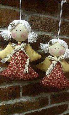 Dekorácie - vianočný anjelik - 4788690_