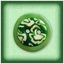 Galantéria - Zelený gombík NA ZÁKAZKU - 4788088_