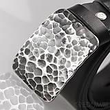 Opasky - Kovaná nerez spona kožený pásek 3,5cm- Mistr 3,5X - Draill - 4793481_